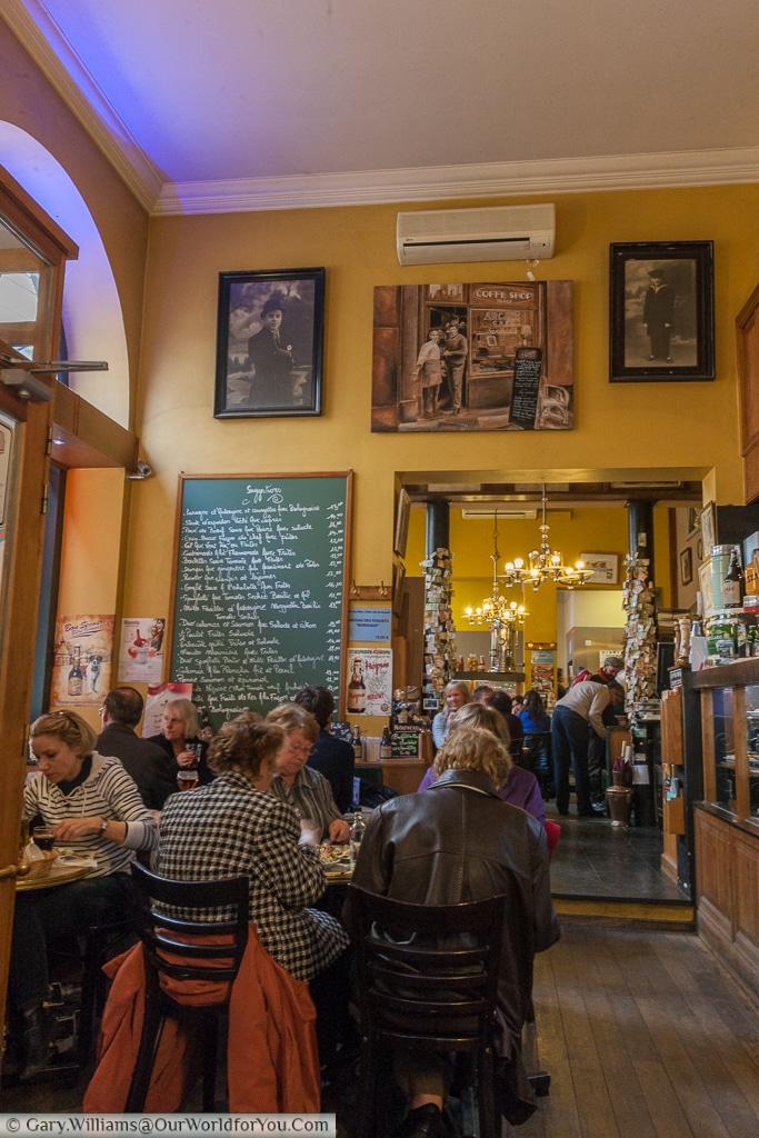 A brasserie, Brussels, Belgium