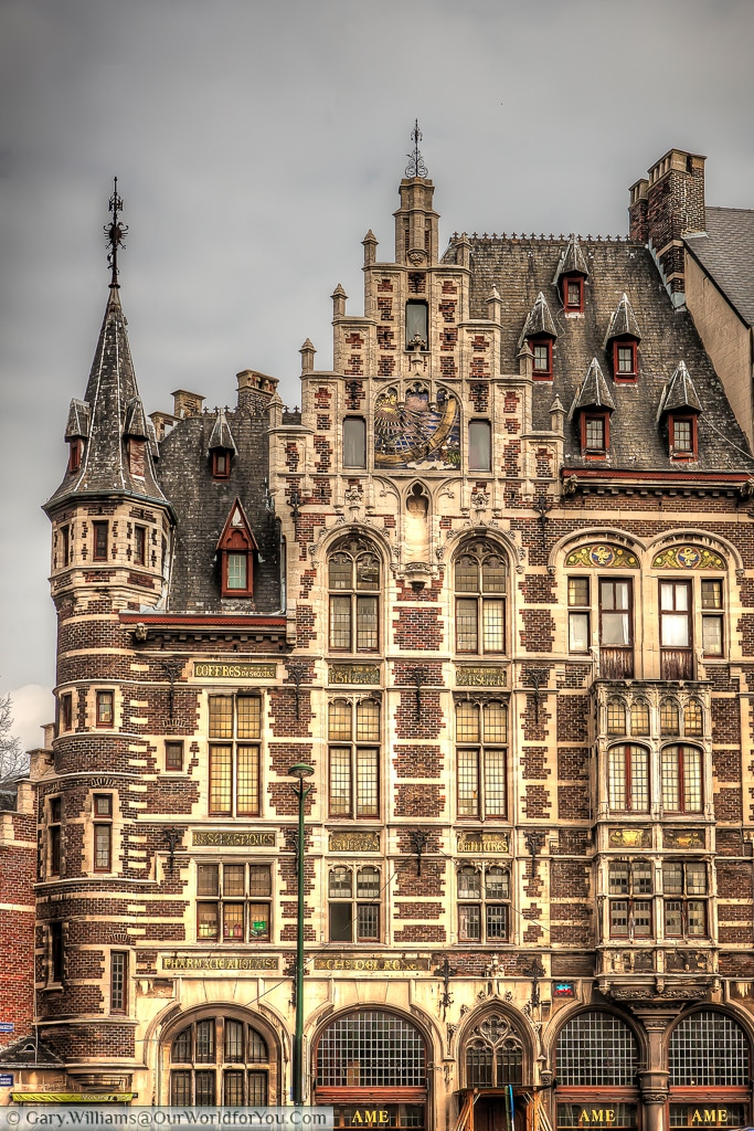 This masterpiece is a former an English pharmacy, a neo-gothic statement in Brussels.