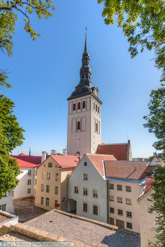 A view of St. Nicholas' Church, now museum of works of religious art.