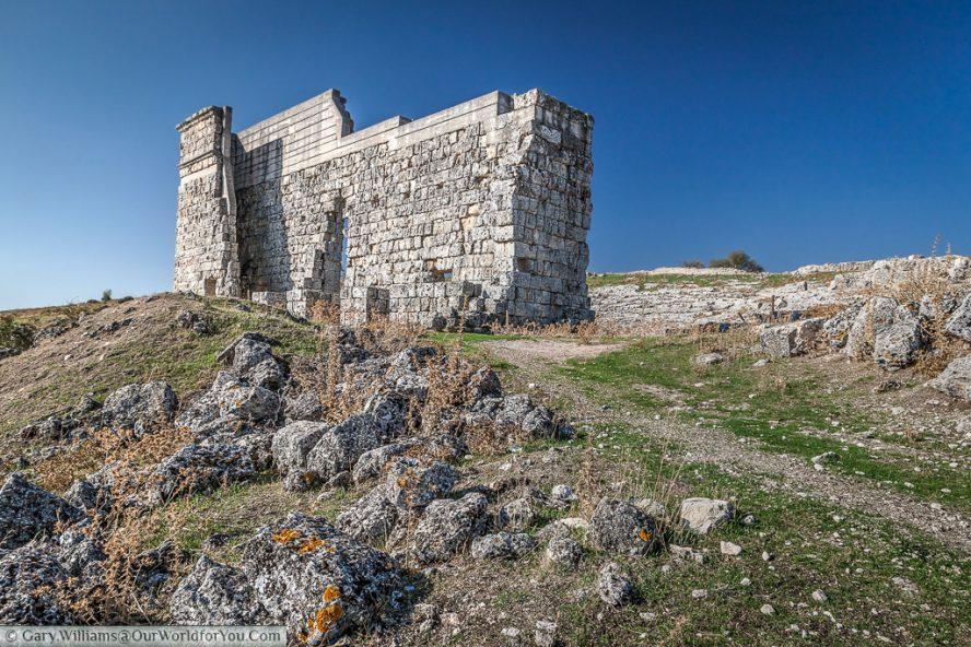 Ascent to the Ampitheatre, Acinipo Roman Theatre, Ronda, Andalucia, Spain