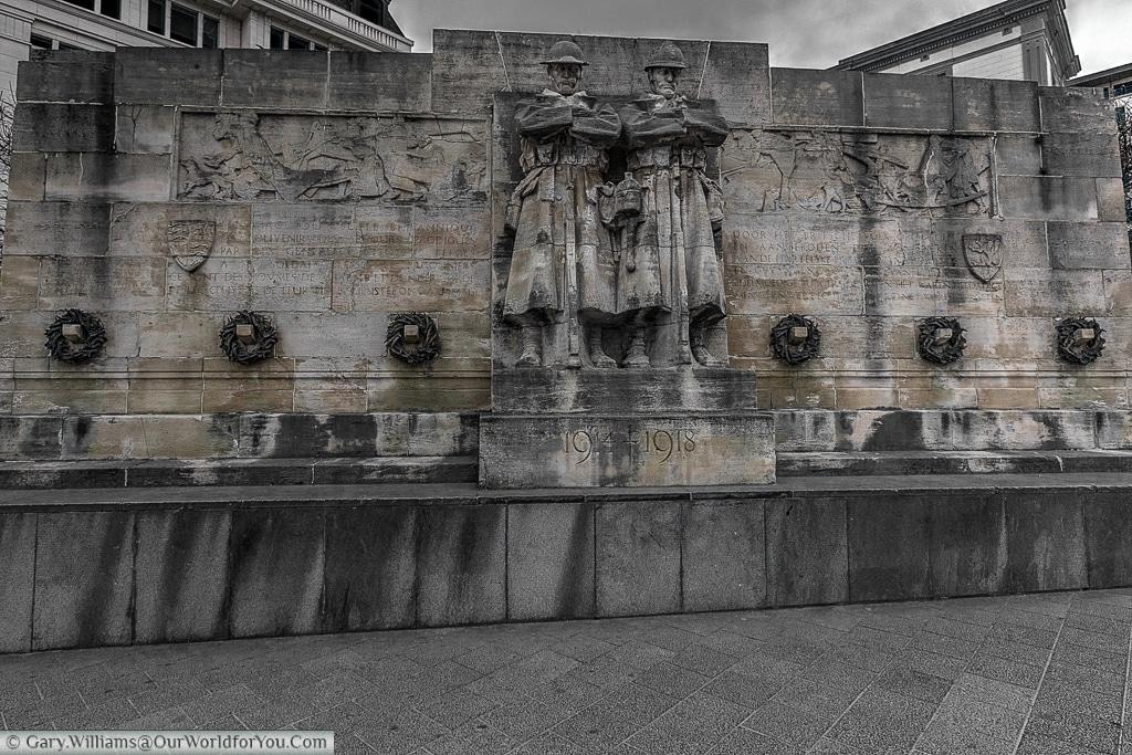 The Monument Britannique to the war dead, Brussels, Belgium
