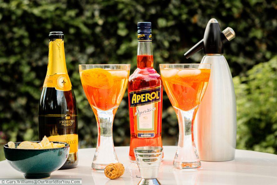 Aperol Spritz - a burt of Italian evening sunshine in a glass