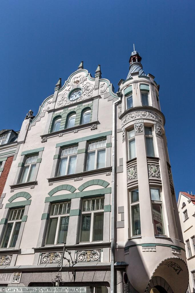 This Art Nouveau building in Pikk , Tallinn.