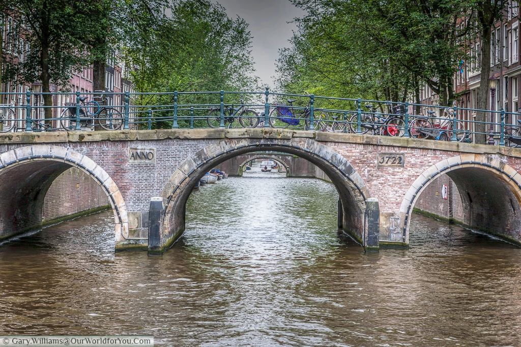 Bicycles & canals, Amsterdam, The Netherlands
