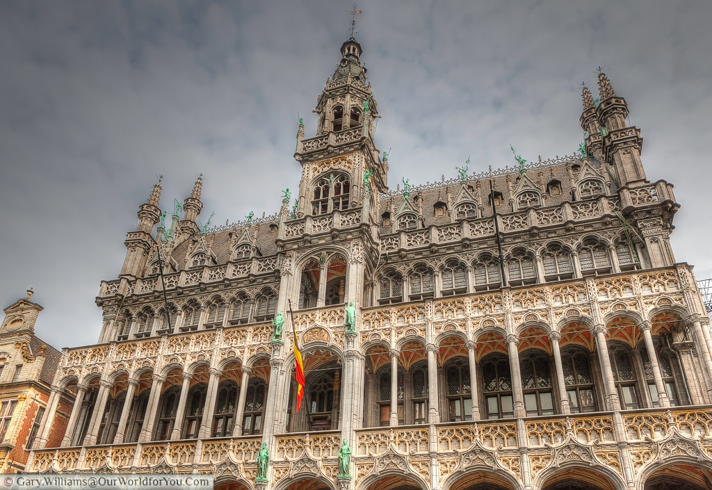 The wonderfully ornate Brussels City Museum in the Grand Place.