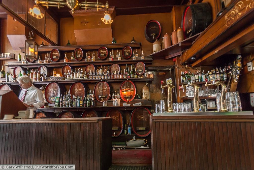 Café Hoppe, One of Amsterdam's famous brown cafés, The Netherlands