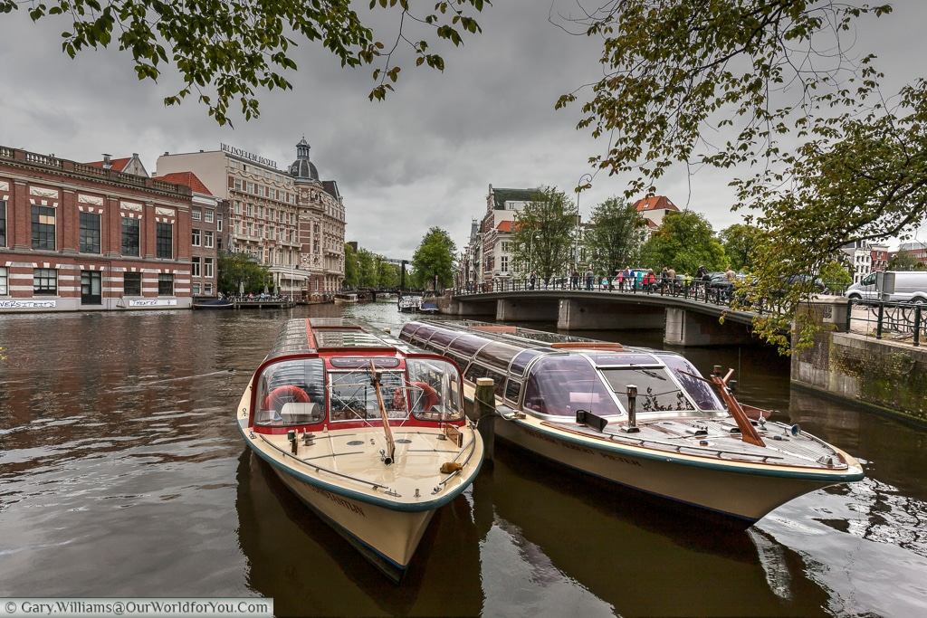 Canal Cruisers on the Amstel, Amsterdam, The Netherlands