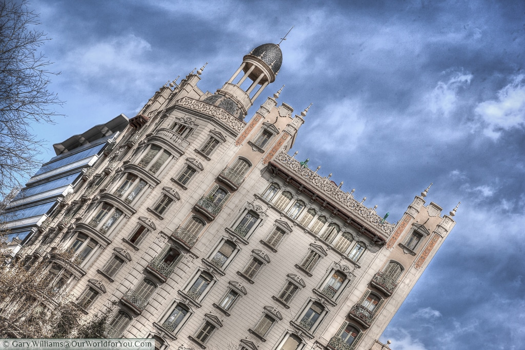 Catalan Architecture in the Eixample District of Barcelona, Spain