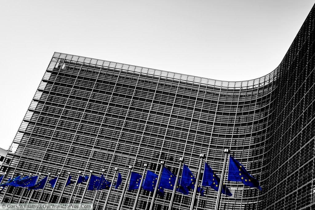 Le Berlaymont, or the European Commission headquarters in Brussels.