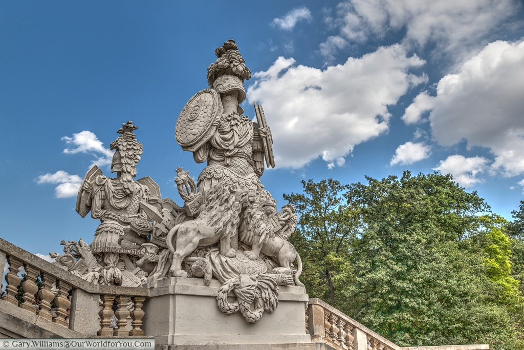 This carving adorns the Gloriette at the Schönbrunn Palace.
