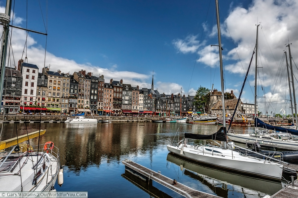 A habour view of Honfleur, France
