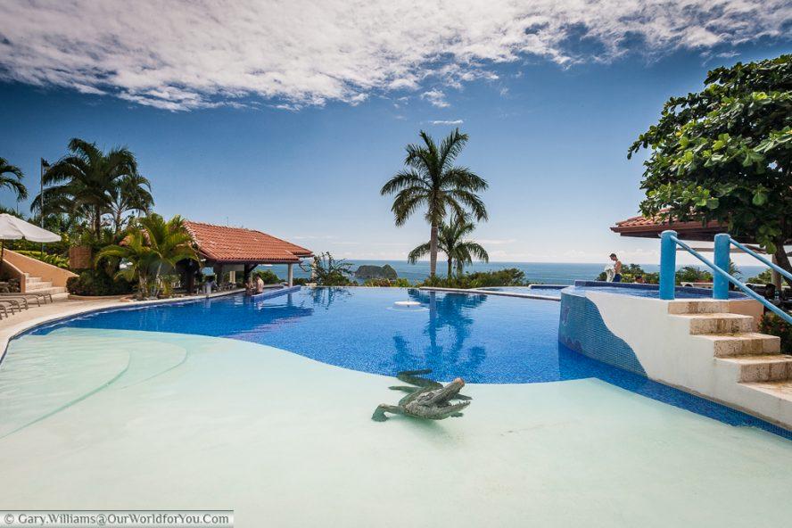 The pool at the Hotel Parador, Manuel Antonio. Just beware of the crocodile.