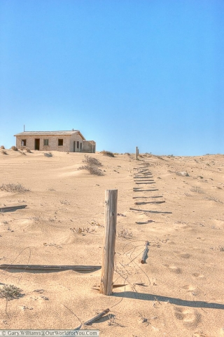 Isolated building, Kolmanskop, Namibia