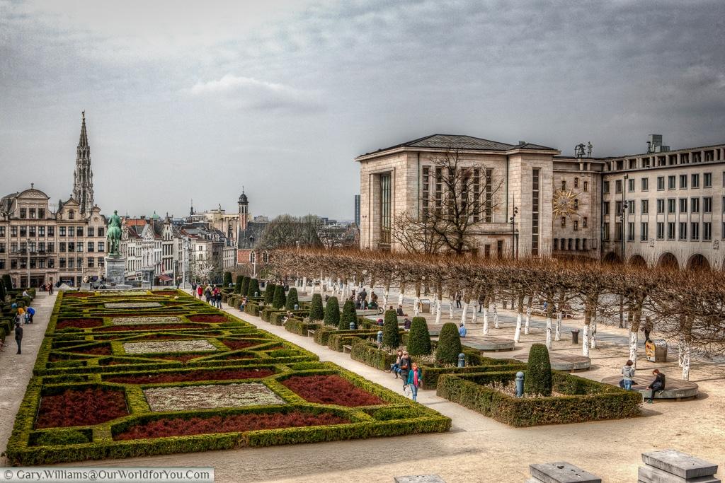 Jardin du Mont des Arts , Brussels, Belgium