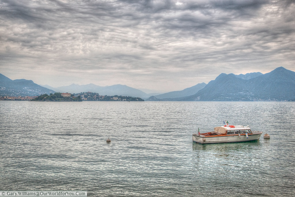 Just floating on Lake Maggiore, Piedmont, Italy