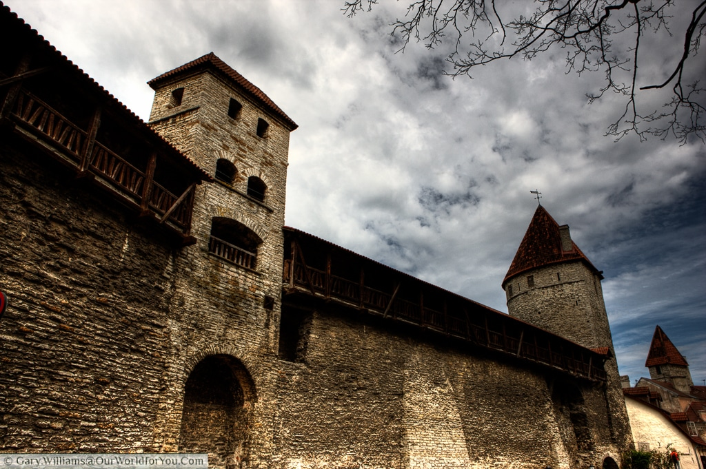 The old town walls lend Tallinn some of its medieval charm