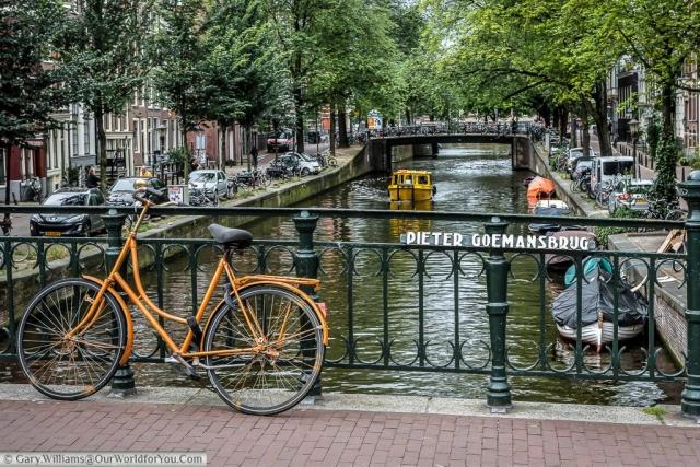 Pieter Goemansbrug, A bridge over the Leidsegracht, Amsterdam, The Netherlands