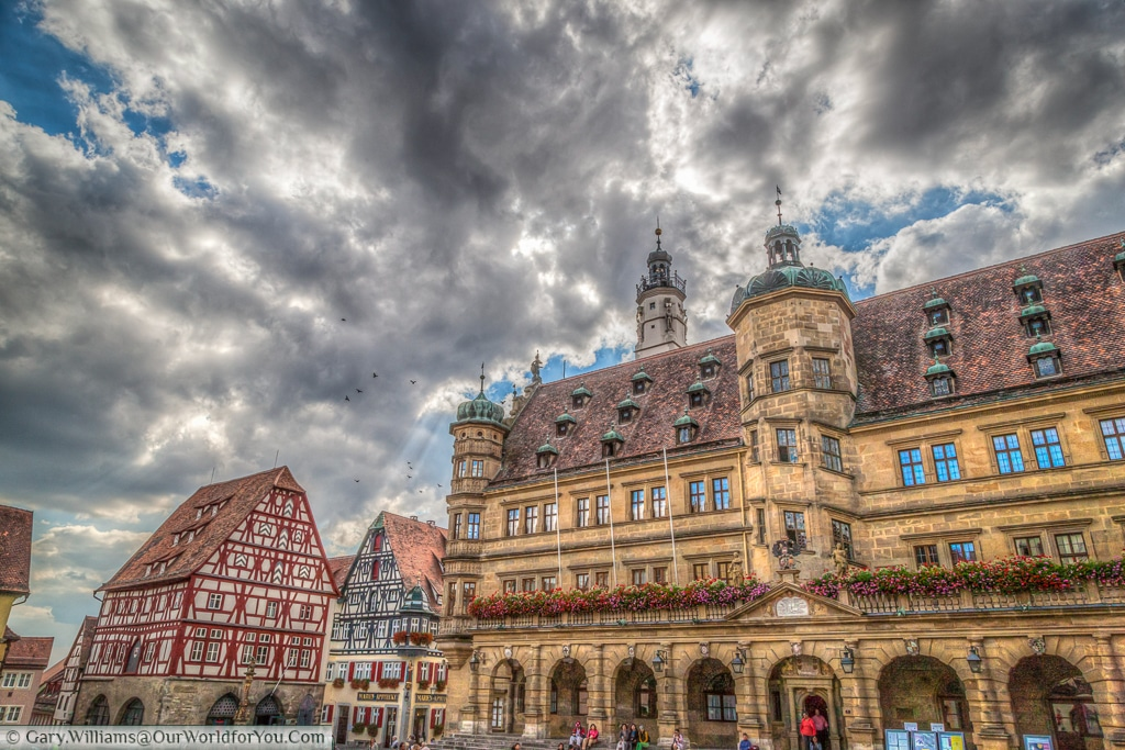 Rathaus, Rothenburg ob der Tauber, Bavaria, Germany