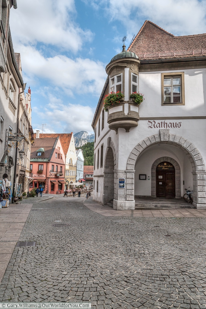 Rathaus - the townhall, Füssen,Bavaria, Germany
