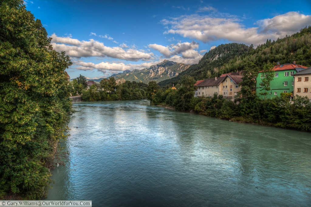 River Lech, Füssen,Bavaria, Germany