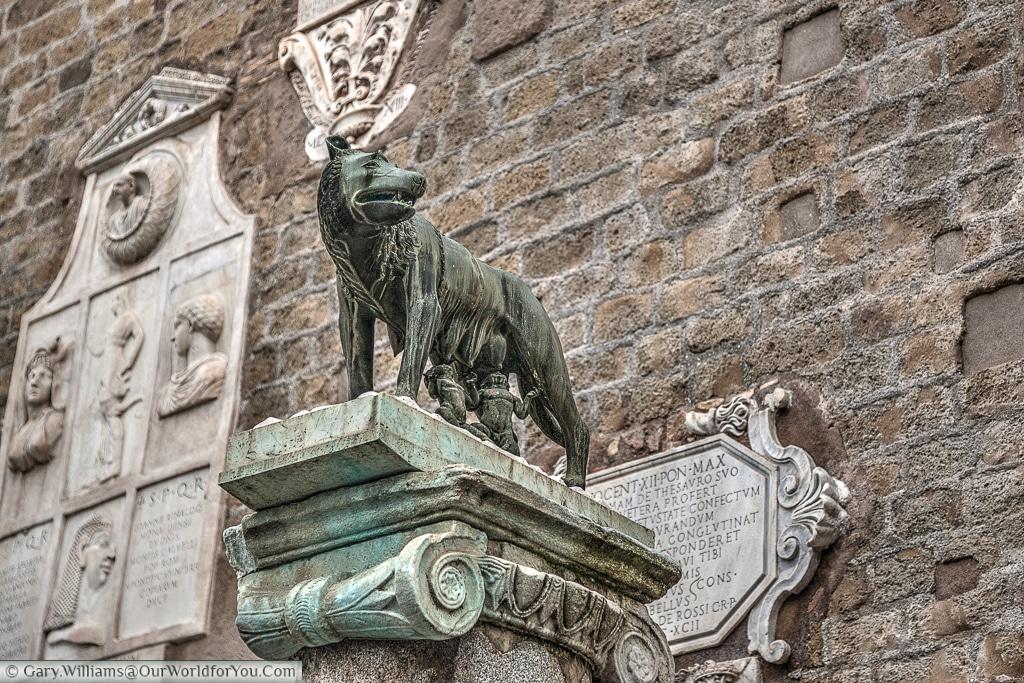 Romulus and Remus just off Piazza del Campidoglio, Rome, Italy