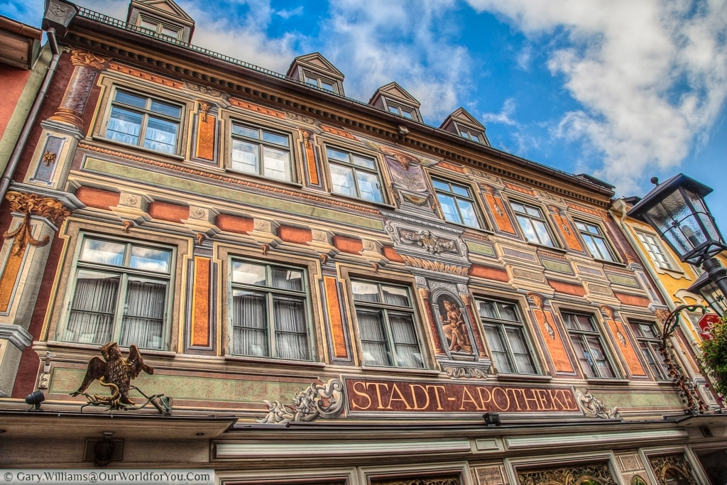 Stadt Apotheke - The High Street, Füssen,Bavaria, Germany