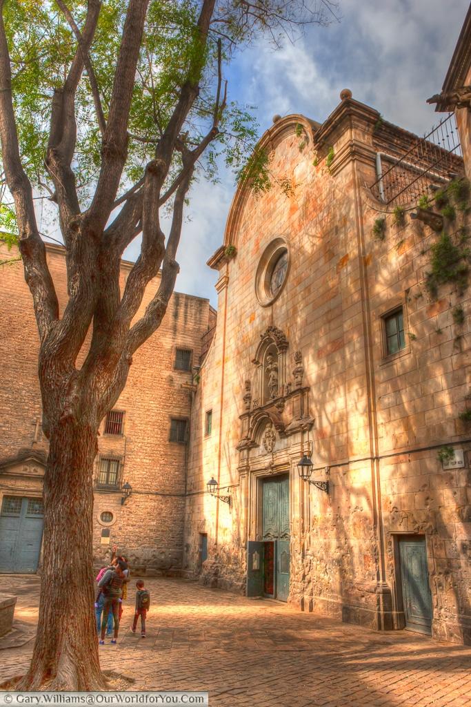 The Museu del Calçat in Plaça de Sant Felip Neri, Barcelona, Spain