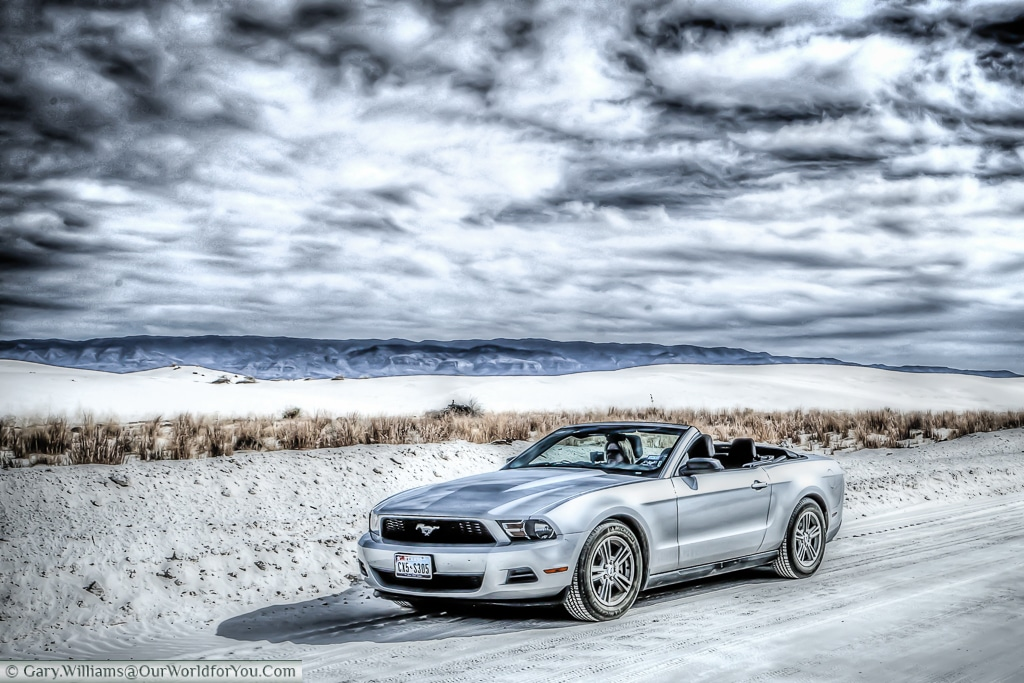 The Mustang in White Sands National Monument, New Mexico, USA