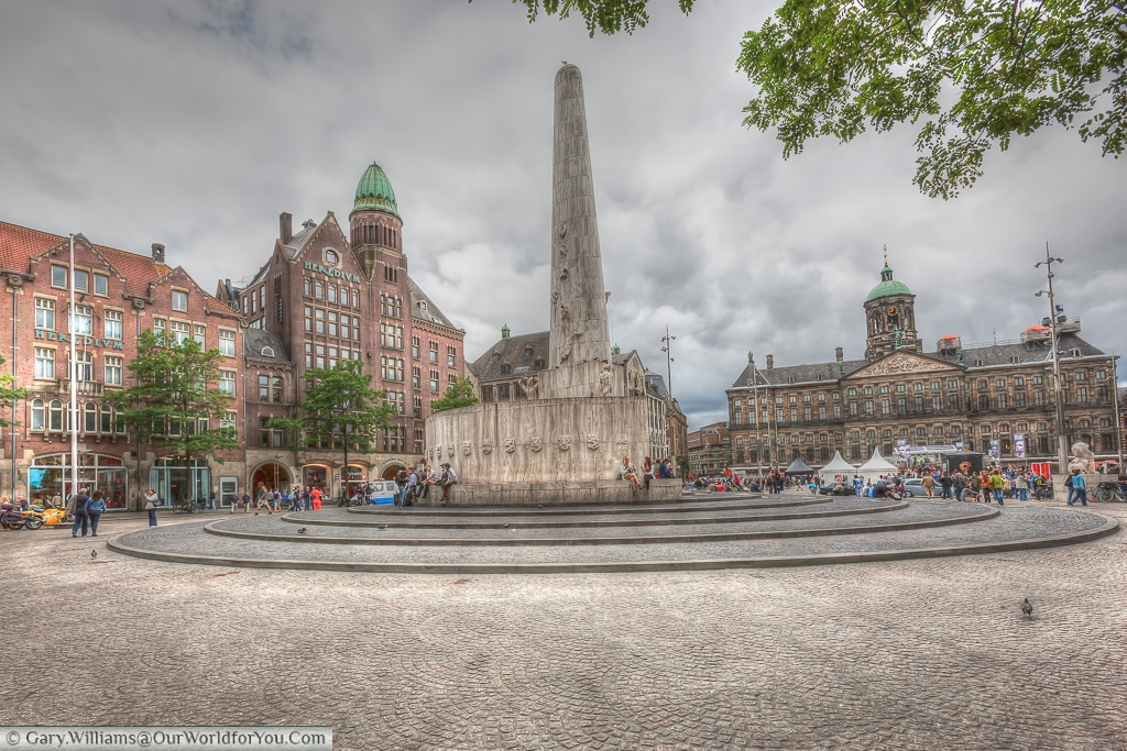 The National Monument on Dam square, Amsterdam, The Netherlands