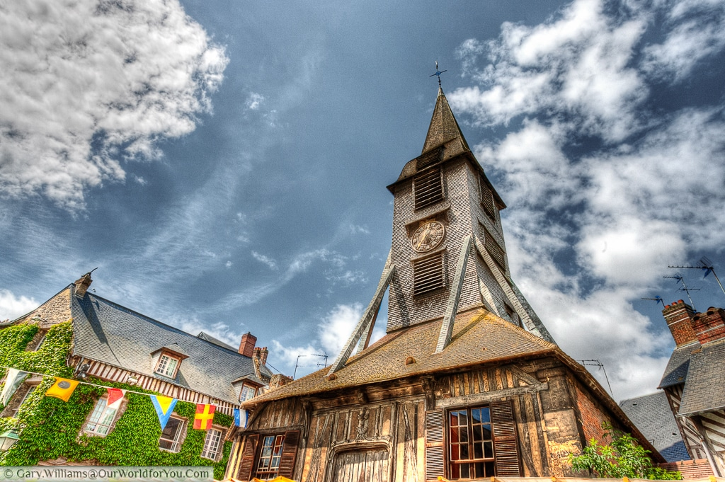 The bell tower of the Church of Saint Catherine., Honfleur, France