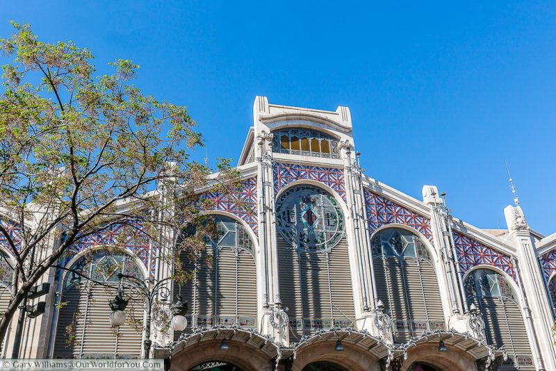 The exterior of the Mercado Central, El Mercat, Valencia, Spain