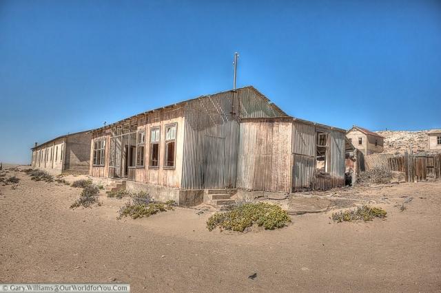 Tin hut, Kolmanskop, Namibia