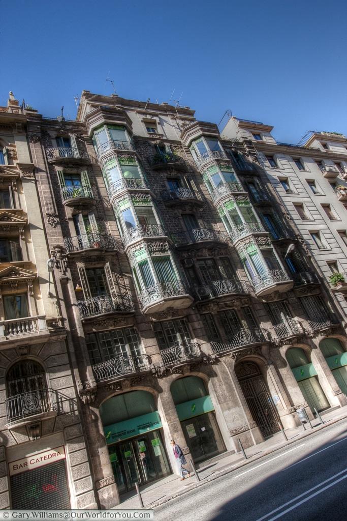 Via Laietana, Barcelona, Spain