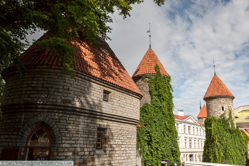 The old town Viru Gate - Tallinn, Estoniawalls lend Tallinn some of its medieval charm, Estonia