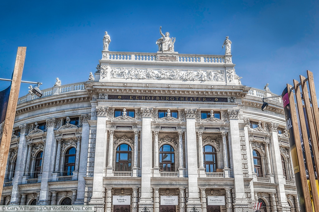 The façade of the Burgtheater, or court theatre.