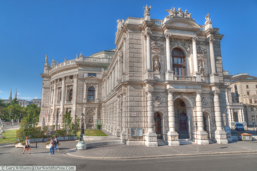 The Die Burg from the side A different, but no less impressive view of the side of the Burgtheater, Vienna Austia