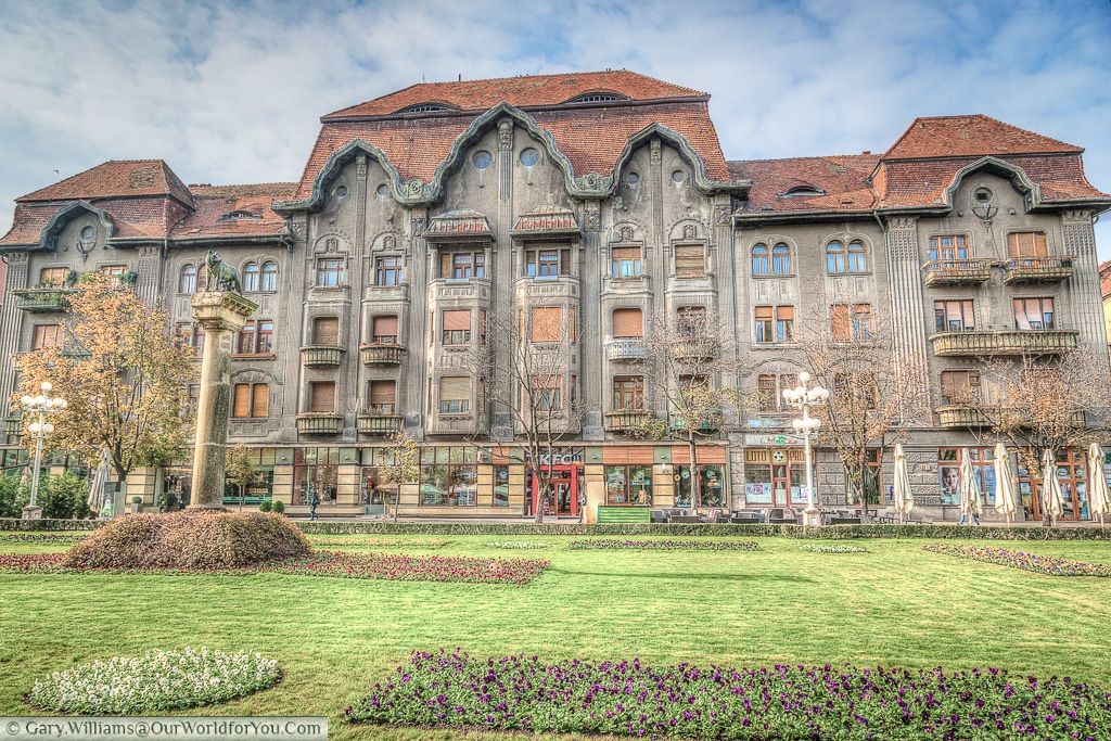 The Dauerbach palace on Victory Square, Timișoara, Romania