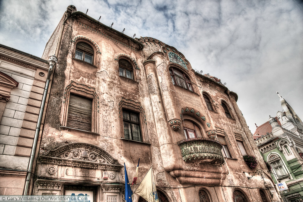A majestic building in Timișoara, Romania