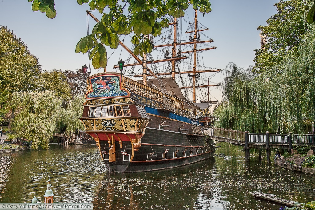 The Pirate Ship in the Tivoli Gardens, Copenhagen, Denmark