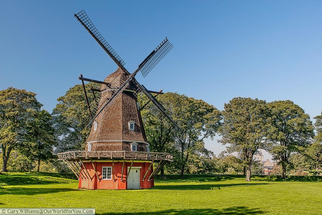 The Windmill in the Kastellet, or old fort, Copenhagen, Denmark