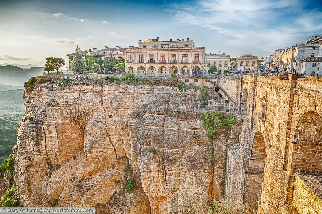 The Parador de Ronda across the gorge, Ronda, Spain