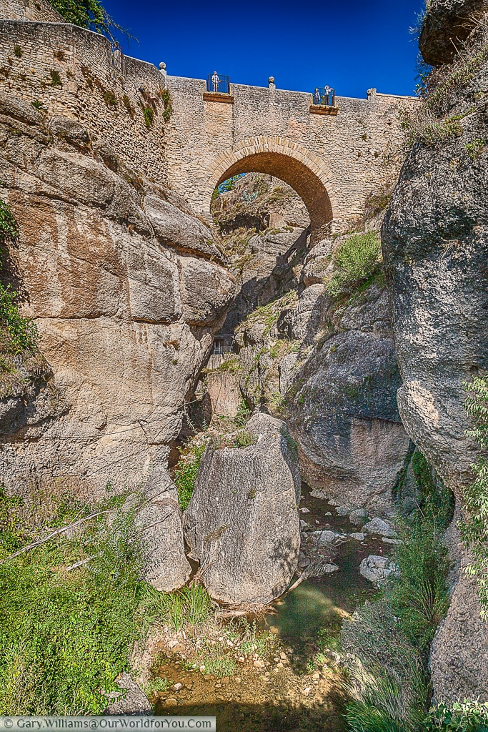 The old bridge, Ronda, Spain