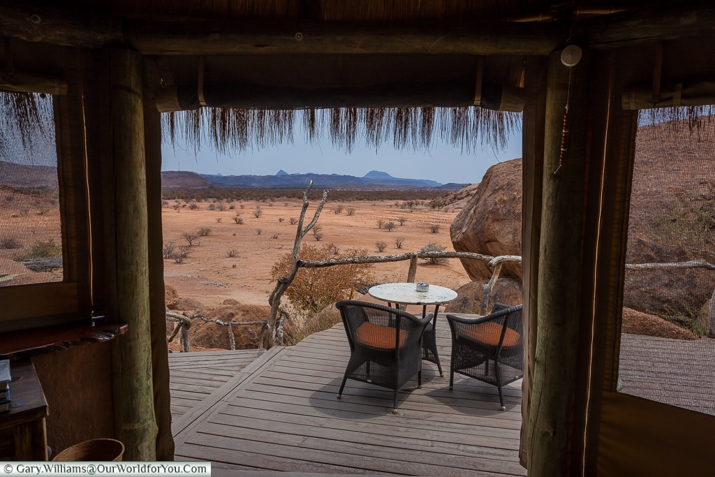 A lodge with a view at Camp Kipwe, Twyfelfontein, Namibia