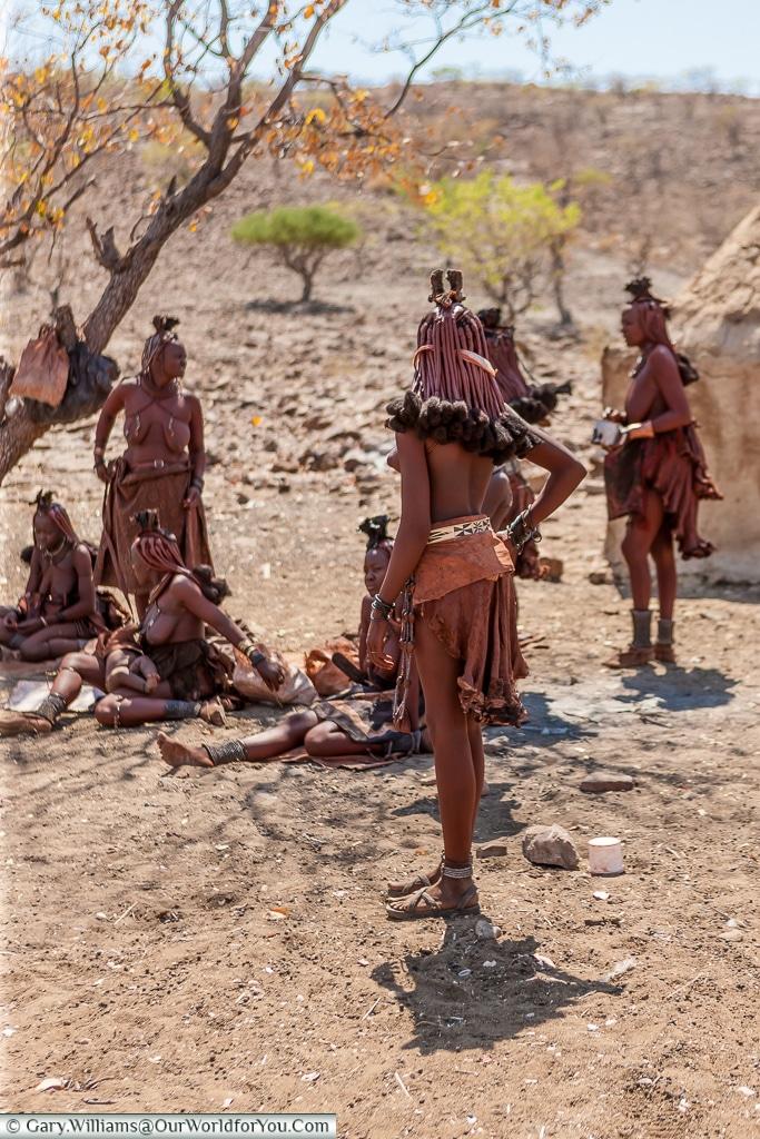 A maternal group of Himba women, Damaraland, Namibia