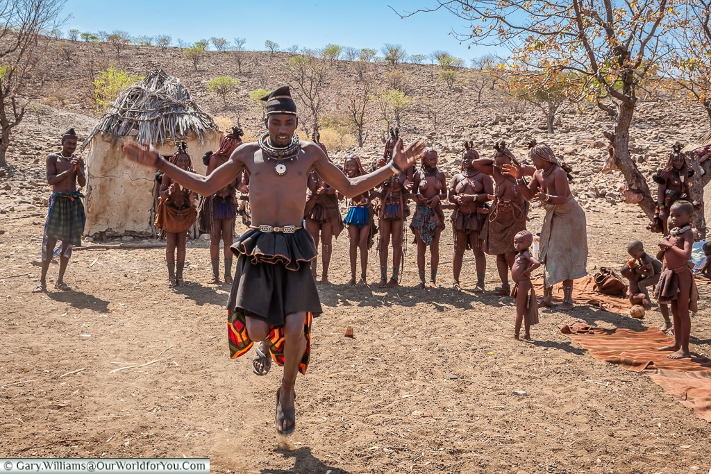 A tribal dance of the Himba people, Damaraland, Namibia