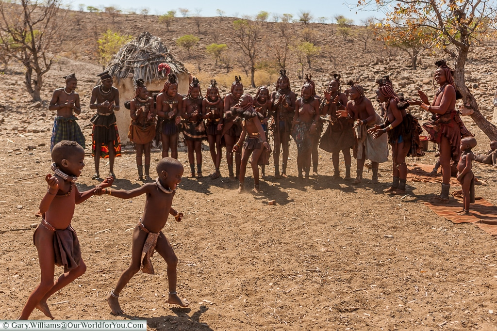 Everybody dances in the Himba tribe, Damaraland, Namibia