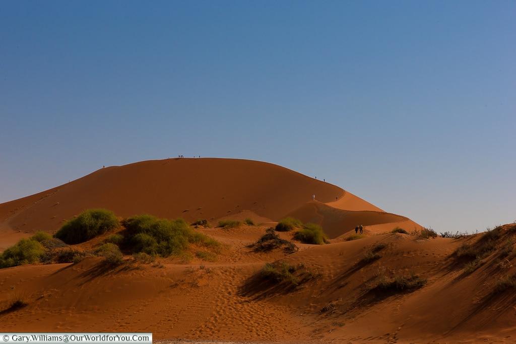 Hiking the dunes at Sossusvlei, Namibia