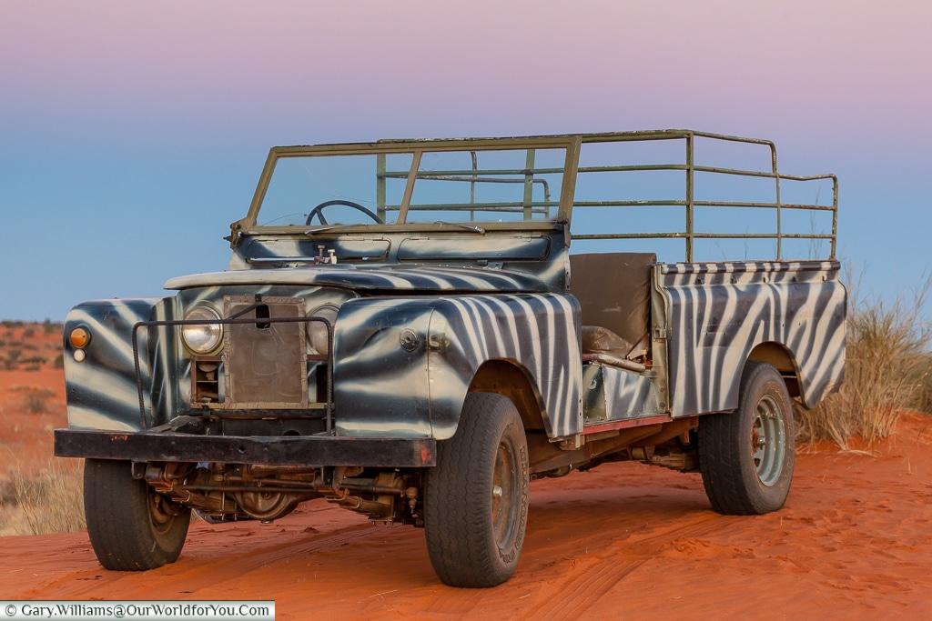 Safari Truck, Bagatelle Kalahari Game Ranch, Namibia
