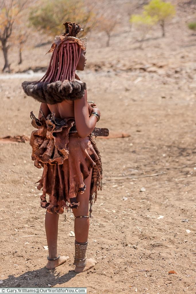 The wonderful hair of the Himba women, Damaraland, Namibia