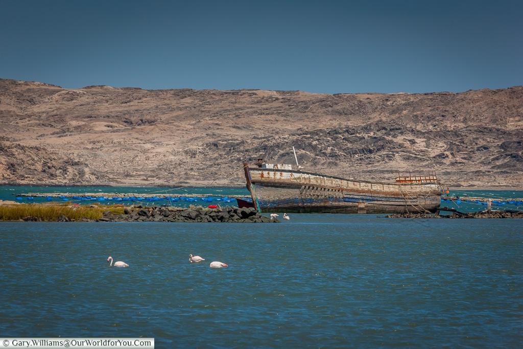 Adandoned hull,Lüderitz, Namibia